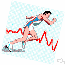 heart rate - the rate at which the heart beats