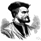 Jacques Cartier - French explorer who explored the St. Lawrence river and laid claim to the region for France (1491-1557)