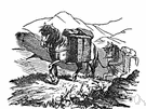 packhorse - a workhorse used as a pack animal