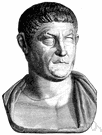 Flavius Valerius Constantinus - Emperor of Rome who stopped the persecution of Christians and in 324 made Christianity the official religion of the Roman Empire