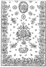 damask - a table linen made from linen with a damask pattern