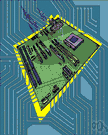 CPU board - the main circuit board for a computer