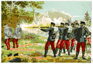 firing party - a squad formed to fire volleys at a military funeral or to carry out a military execution