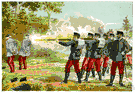 firing squad - a squad formed to fire volleys at a military funeral or to carry out a military execution