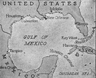Gulf of Campeche - a part of the Gulf of Mexico to the west of Yucatan