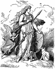 Freyja - (Norse mythology) goddess of love and fecundity