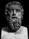 Aristophanes - an ancient Greek dramatist remembered for his comedies (448-380 BC)