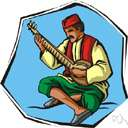 sitar - a stringed instrument of India