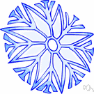 snowflake - a crystal of snow