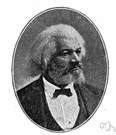 Frederick Douglass - United States abolitionist who escaped from slavery and became an influential writer and lecturer in the North (1817-1895)