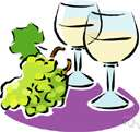 white wine - pale yellowish wine made from white grapes or red grapes with skins removed before fermentation