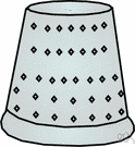 thimbleful - as much as a thimble will hold
