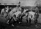 scrimmage - (American football) practice play between a football team's squads