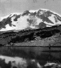 Adams - a mountain peak in southwestern Washington in the Cascade Range (12,307 feet high)