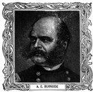 Burnside - United States general in the American Civil War who was defeated by Robert E. Lee at the Battle of Fredericksburg (1824-1881)