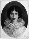 Dickinson - United States poet noted for her mystical and unrhymed poems (1830-1886)