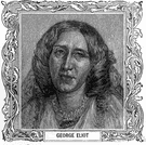 George Eliot - British writer of novels characterized by realistic analysis of provincial Victorian society (1819-1880)