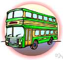motorbus - a vehicle carrying many passengers