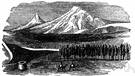 Mount Ararat - the mountain peak that Noah's ark landed on as the waters of the great flood receded