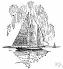 Bermudian rig - a rig of triangular sails for a yacht