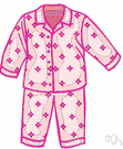pajama - (usually plural) loose-fitting nightclothes worn for sleeping or lounging