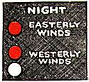 west wind - wind that blows from west to east