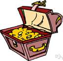 treasure chest - a chest filled with valuables