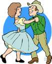 barn dance - a dance party featuring country dancing
