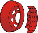 brake drum - a hollow cast-iron cylinder attached to the wheel that forms part of the brakes