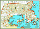 Massachusetts - a state in New England