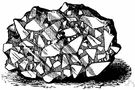 breccia - a rudaceous rock consisting of sharp fragments embedded in clay or sand