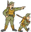 militarize - lend a military character to (a country), as by building up a military force