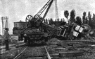 derailment - an accident in which a train runs off its track
