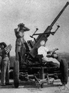 antiaircraft fire - firing at enemy aircraft