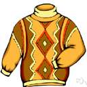 sweater - a crocheted or knitted garment covering the upper part of the body