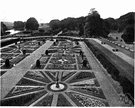 formal garden - a garden laid out on regular lines with plants arranged in symmetrical locations or in geometrical designs