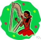 harpist - someone who plays the harp