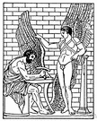Daedalus - (Greek mythology) an Athenian inventor who built the labyrinth of Minos