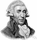 Joseph Haydn - prolific Austrian composer who influenced the classical form of the symphony (1732-1809)