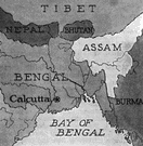 Bengal - a region whose eastern part is now Bangladesh and whose western part is included in India