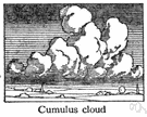 cumulus cloud - a globular cloud