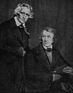 Grimm - the younger of the two Grimm brothers remembered best for their fairy stories (1786-1859)