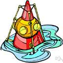 acoustic buoy - a buoy that can be heard (at night)