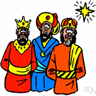 Wise Men - (New Testament) the sages who visited Jesus and Mary and Joseph shortly after Jesus was born