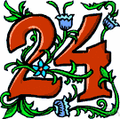 twenty-four - the cardinal number that is the sum of twenty-three and one