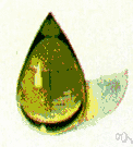 chrysolite - a brown or yellow-green olivine found in igneous and metamorphic rocks and used as a gemstone
