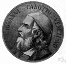 Cabot - Italian explorer who led the English expedition in 1497 that discovered the mainland of North America and explored the coast from Nova Scotia to Newfoundland (ca. 1450-1498)