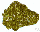 chalcopyrite - a yellow copper ore (CuFeS2) made up of copper and iron sulfide
