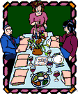 Passover supper - (Judaism) the ceremonial dinner on the first night (or both nights) of Passover