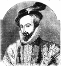 Sir Walter Raleigh - English courtier (a favorite of Elizabeth I) who tried to colonize Virginia